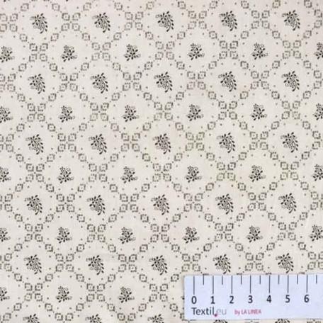 Abstraktní, Ornamenty - Bavlněný satén - Béžová - 100% bavlna