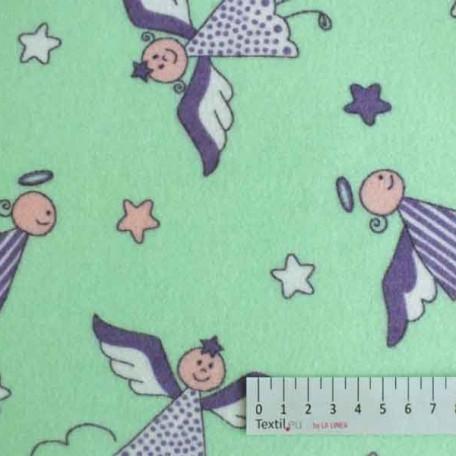 Dětské - Flanel - jednostranný - Zelená - 100% bavlna