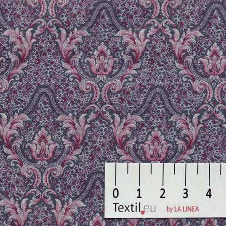Ornamenty - Bavlněné plátno - Fialová, Růžová - 100% bavlna