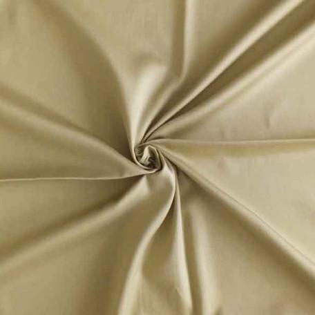 Naše UNI - Bavlněný satén - Béžová - 100% bavlna
