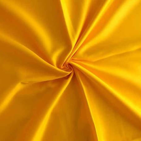Naše UNI - Bavlněný satén - Žlutá - 100% bavlna
