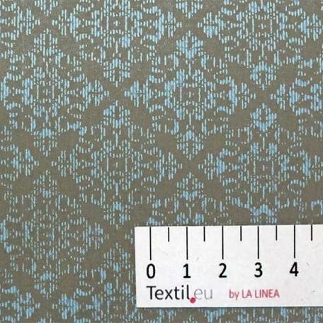 Ornamenty - Bavlněný satén - Šedá - 100% bavlna