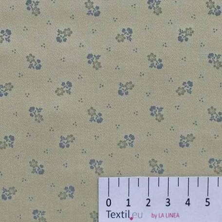 Květiny - Bavlněné plátno - Béžová - 100% bavlna