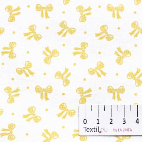Mašle, Dětské - Bavlněné plátno - Žlutá - 100% bavlna