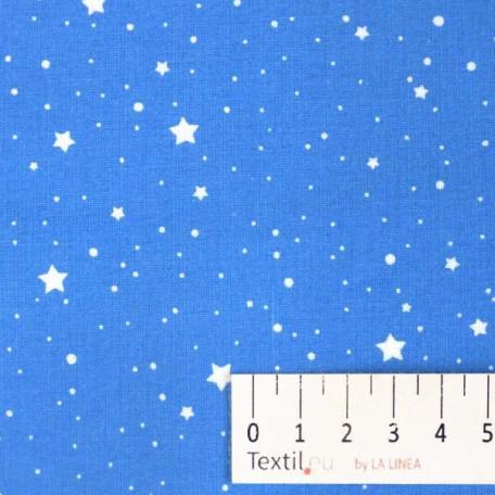 Hvězdy, Dětské - Bavlněné plátno - Modrá - 100% bavlna