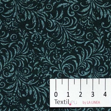 Ornamenty - Bavlněné plátno - Zelená - 100% bavlna