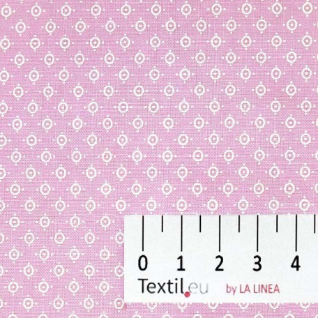 Puntíky - Bavlněné plátno - Růžová - 100% bavlna