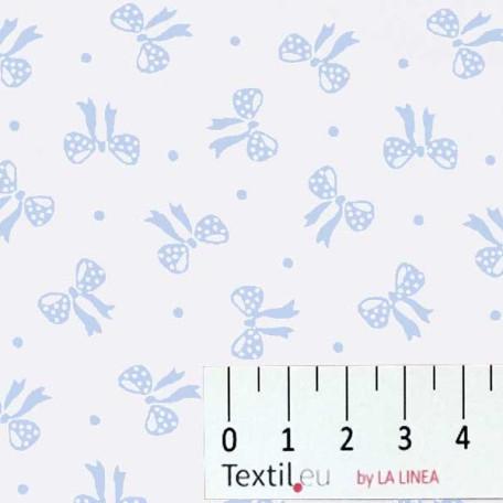 Dětské, Mašle - Bavlněné plátno - Modrá - 100% bavlna