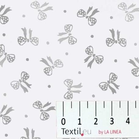 Dětské, Mašle - Bavlněné plátno - Šedá - 100% bavlna