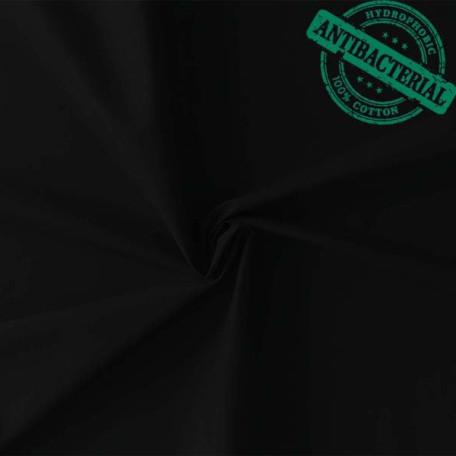 Naše UNI - Bavlněný kepr - Černá - Antibakteriální
