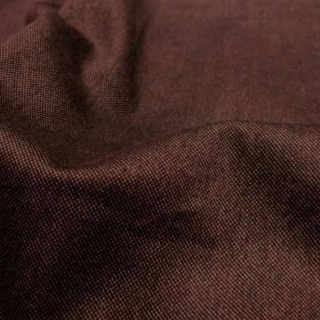 Abstraktní - Bavlněný satén - Hnědá - 100% bavlna